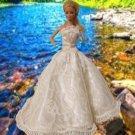 Barbie Fashion Royalty White Wedding Party Bridal Gown Dress