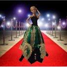 Barbie Green Black Imperial 2 pcs Dress Unique Vintage Doll
