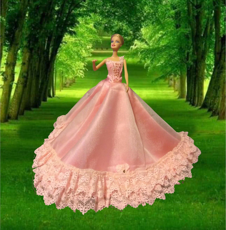 Princess Pink Party Fun Ballgown Unique for Vintage Doll
