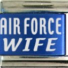 Air Force Wife Blue Laser Italian Charm
