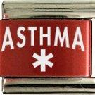Asthma Red Italian Laser Charm