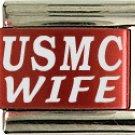 USMC Red Italian Laser Charm