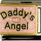 Daddy's Angel Pink Italian Charm