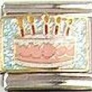 Glitter Birthday Cake Italian Charm