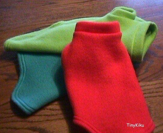 Any Color CLASSIC Dog Coat Sweater  XXXS-XXS-XS-S-M