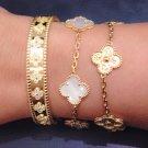 5 Motif Clover Bracelet In Yellow Gold