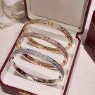 Full Paved Love Bangle Bracelet