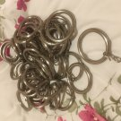 44 X STEEL CURTAIN POLE RINGS 35MM INSIDE DIAMETER FOR 28MM POLE OR LESS