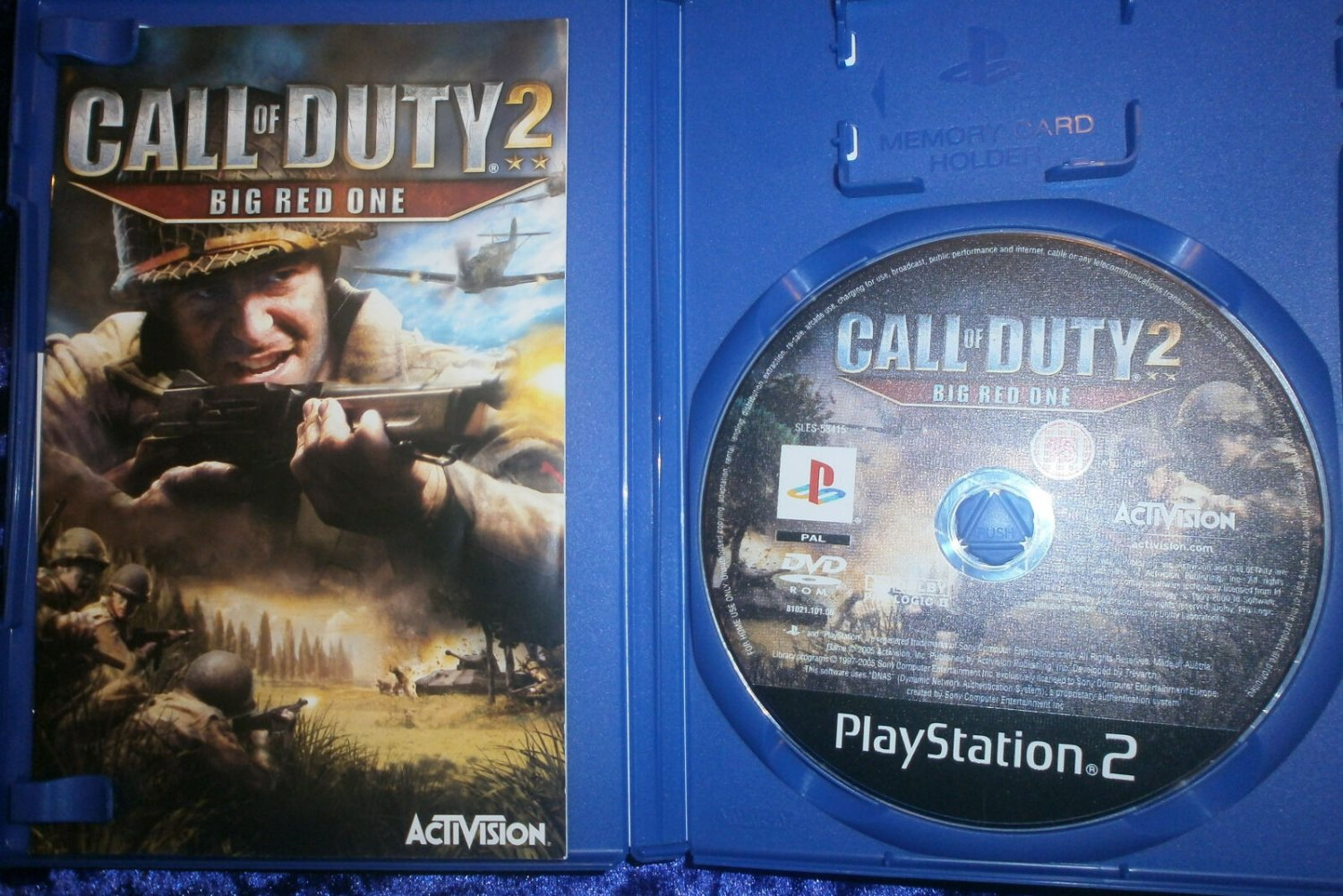 Call of Duty 2 Big Red One 2006 Activision PS2 Game