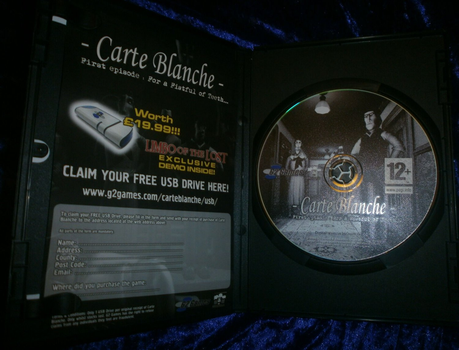 Carte Blanche For A Fistful Of Teeth 2006 G2 Games PC Comedy Adventure Game