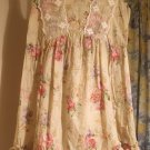 COUNTRY FLORAL RUFFLE LACE COTTON TIED EMPIRE SLEEVELESS YUMI MINI DRESS SIZE 8