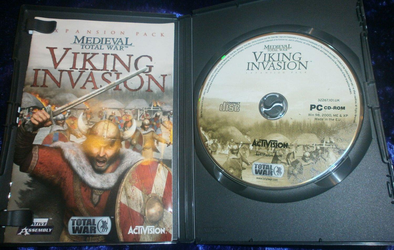 Medieval Total War Viking Invasion 2003 Sega PC Strategy Game Expansion Pack