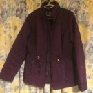 PURPLE GOLD TRIM ISLE FASHION QUILTED JACKET SIZE 10