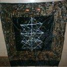 Hermetic, Quaballah, Kaballah, Tree of Life, Jewelled, Embroidery, Black Velvet, Tarot Cloth, Altar