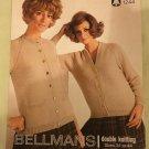 Vintage 70s Retro Iconic Era Printed Media Knitting Pattern Bellmans 1244 DK cardigan