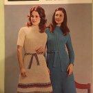 Vintage 70s Retro Iconic Era Printed Media Knitting Pattern Poppleton 1248 DK sweater skirt suit