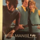 Vintage 70s Retro Iconic Era Printed Media Knitting Pattern Bellmans 1388 4ply tank tops
