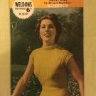 Vintage 40s Retro Iconic Era Printed Media Knitting Pattern Weldons B977 3ply jumpers