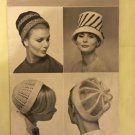 Vintage 50s Retro Iconic Era Printed Media Knitting Pattern Patons & Baldwins 1440 hats