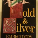 Vintage Craft Reference Pattern Tutorial Book Gold & Silver Embroidery by Kit Pyman