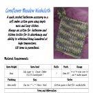 Cornflower Meadow Crochet Washcloth PDF Pattern INSTANT DOWNLOAD