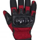 pro-biker motorcycle shock proof goat skin gel motorbike leather racing gloves small size