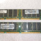 PC 133 128MB x 2 total 256MB 168 pin sdram