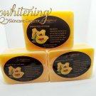 3 Pure Handmade Kojic Acid Whitening Papaya Soap.
