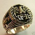 Imperial Roman Eagle signet ring Sterling Silver Lge