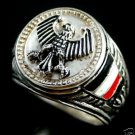 Imperial Prussian Eagle Coin ring Sterling Silver Lge.