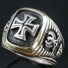 Iron  Cross,Eagle Signet ring 2-Tone....Sterling Silver,Lge