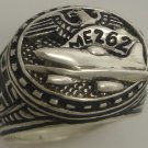 Luftwaffe ME262 First Operational WWII Jet  Mens Sterling Silver Ring