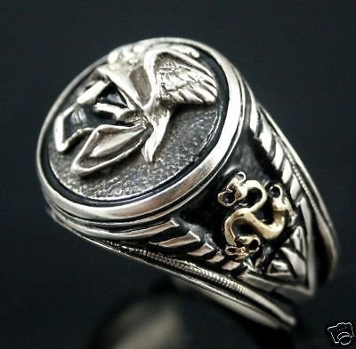 Viking  helmet,Warrior Signet ring,,,,sterling silver
