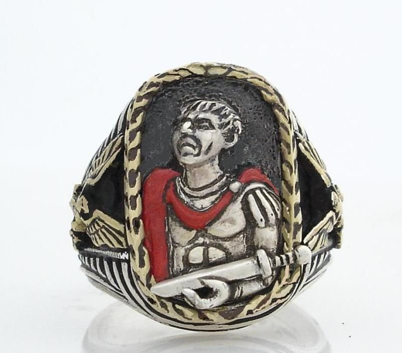 Julius Caesar Mens Gladius  ring    Sterling Silver Lge