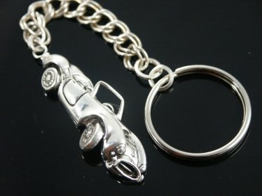 Shelby Cobra mens Key chain Sterling Silver