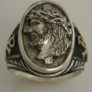 Jesus Christ Prince of Peace Gents ring Sterling Silver.Lge