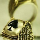 Ace of Spades Winged ring....Sterling Silver