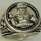 Queen Victoria Chess piece Mens Signet ring   Sterling Silver