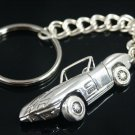 Corvette Stingray Key ring chain     Sterling Silver