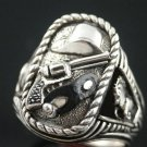 Clayton Moore Tribute Last Texas Rangers Silver Bullet  sterling silver ring