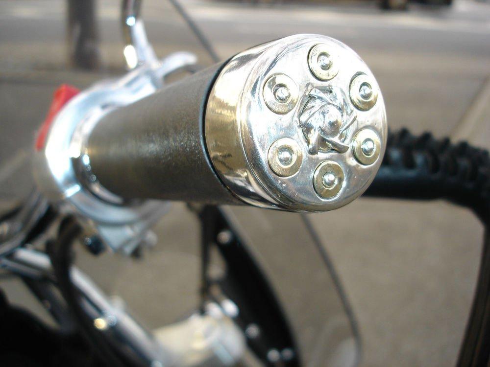Honda VTX Handlebar grips revolver barrel bullet end caps