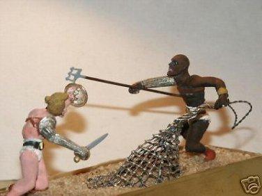 Stanley kubrick Tribute Spartacus Gladiatorial Arena Death Match 54mm figurines