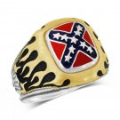 Confederate States Motorcycle RING STERLING SILVER
