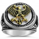 German Eagle Coin ring Mens   Sterling Silver