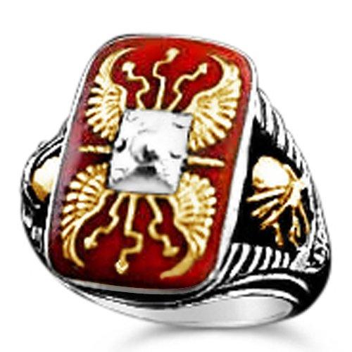 Roman Scutum Mens Legionaire ring sterling silver