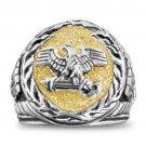 Roman Eagle SPQR signet ring Sterling Silver Lge