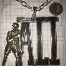 Mohamed Ali sterling silver Pendant Large