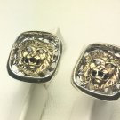 10k Gold Lion head sterling silver cufflinks