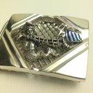 Neptune Viking Dragon ship Gents belt buckle sterling silver