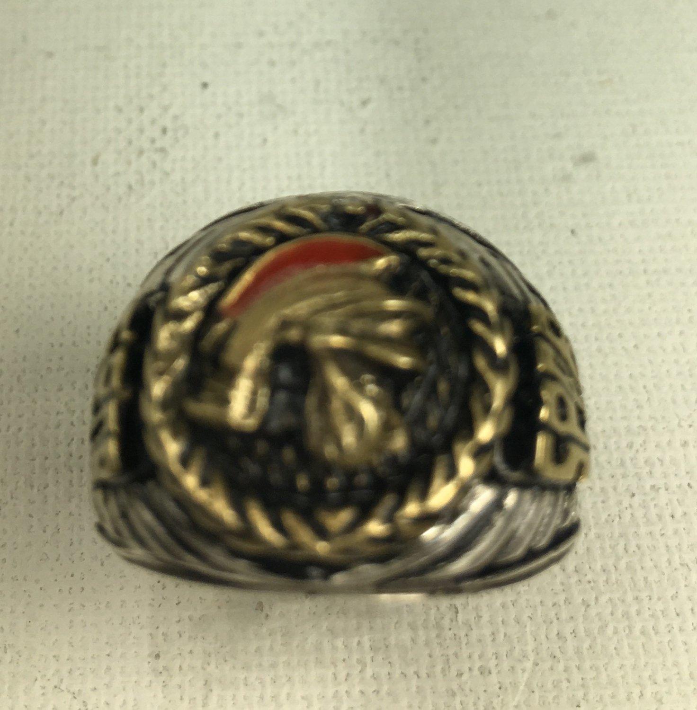 10 karat Gold Centurion Mens sterling silver Pinky ring